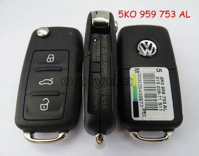 For VW 3 button remote key with 434mhz Model Number is 5KO-959-753-AL/5KO-837-202AN
