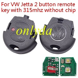 For VW Jetta 2 button remote key with 315mhz without chip