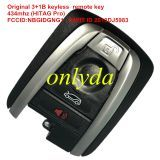 Original 3+1 button keyless remote key with 434mhz (HITAG Pro)