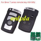 For Bmw 7 series remote key with 7942 chips with 315mhz/433mhz/868mhz/315-LPmhz