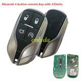 4 button remote key with 433mhz PCF7945/7953(HITAG2)