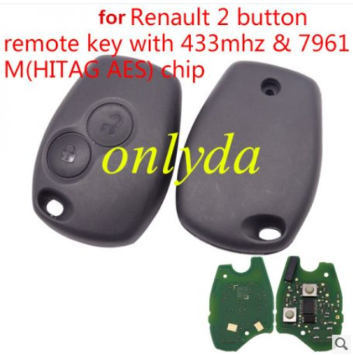 For Renault 2B remote 7961M(HITAG AES) chip-434mhz