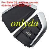 For BMW X5 3 button keyless remote key With 434mhz