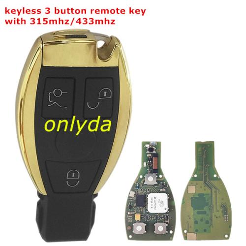 keyless Mercedes-Benz  FBS3  BGA remote key.support  2005years-2010 .June car.  W221,W164,W251,W220W211,W203(S-class, ML-class,GL-class, R-class)