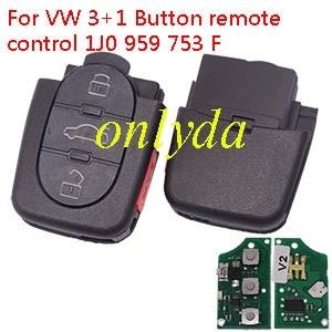 For VW 3+1 Button remote control 1J0 959 753 F