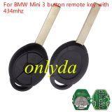 For BMW Mini 3 button key with 434mhz /315mhz