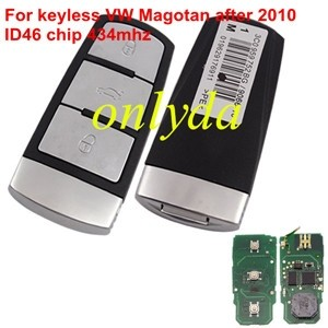 For VWkeyless Magotan 3 button remote key with ID46 chip after 2010