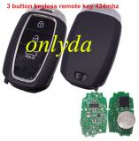 Original 3 button keyless remote key with 434mhz