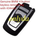 Genuine For BMW 4 button keyless remote key with 434mhz