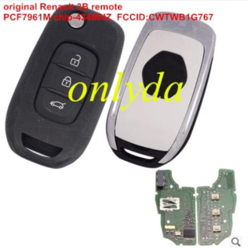 For original Renault 3Bremote PCF7961M-434MHZ CMIIT ID:2013DJ6139 FCCID:CWTWB1G767