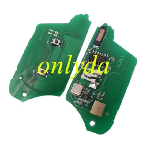 renault Clio 2 button remote key with 7946(HITAG2) chip  with 433mhz  blade: VA2