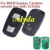 For BMW CAS3 3B keyless remote key PCF7952 chip 315mhz for bmw 1、3、5、6、X5,X6,Z4 series