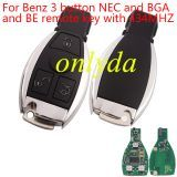 For Benz 3 button NEC and BGA and BE remote key with 434MHZ/315MHZ