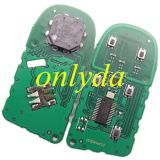 keyless remote key 434mhz- PCF7945/7953 HITAG2 chip with 2/2+1/3/3+1/4+1 button key shell