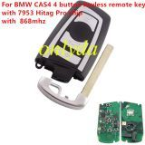 For BMW 4 button keyless remote key with 868mhz