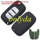 Original For Benz smart 3 button remote key with 434mhz with PCF7961M chip