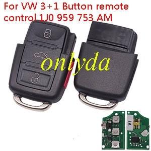 For VW 3+1 Button remote control 1J0 959 753 AM