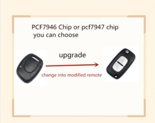 for Renault Modified 1 button remote key7946 chip-434mhz