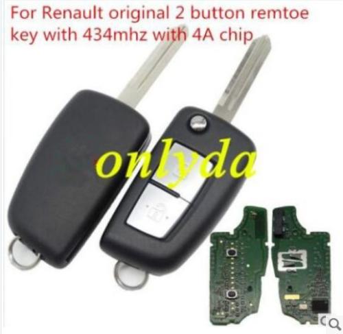 For Renault original 2B remtoe PCF7961M-434mhz FCCID:CWTWB1G767