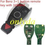 For Benz 3+1 button remote key with 315MHZ/433MHZ