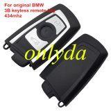 Genuine For BMW 3 button keyless remote key with 434mhz