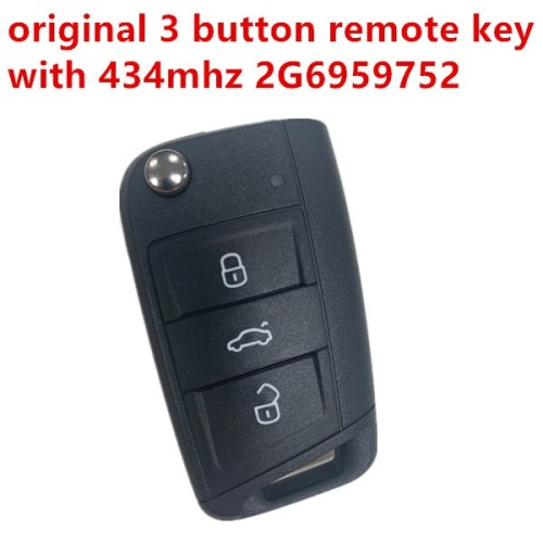 Original 3 button remote key with 434mhz 2G6959752