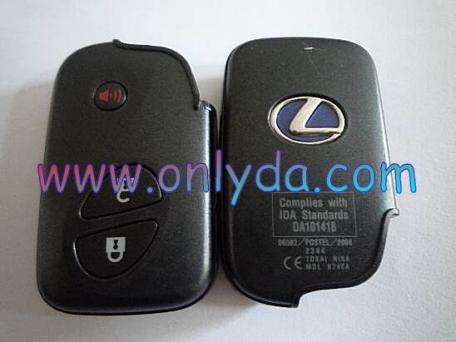For original for Lexus 3 button Smart original remote Key The chip is TIRIS DST+