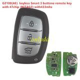 G2100(AE) keyless Smart 3 button remote key with 47chip (HITAG3) with 433mhz