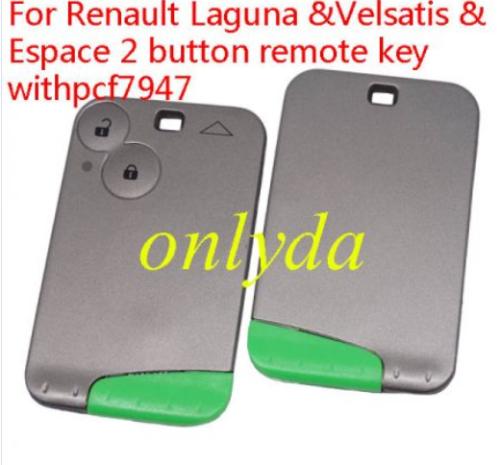 Renault Laguna &Velsatis & Espace Renault:Laguna II 2 button card pcf7947-433mhz key profile:Renault Smart