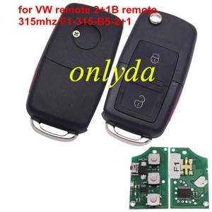 For VW remote with315mhz 2+1 button F1-315-B5-2+1