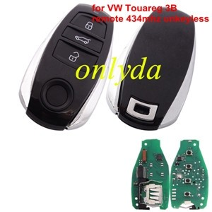 For VW Touareg 3 button remote key with 434MHZ