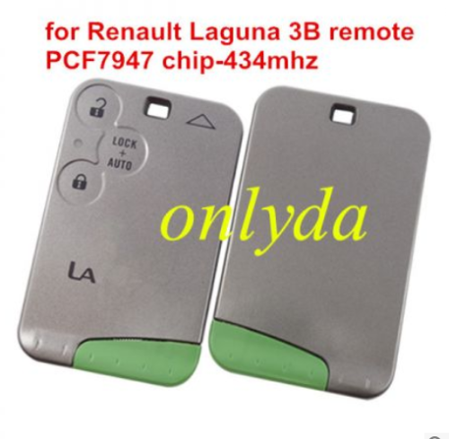 Renault  Laguna &Velsatis & Espace 3 button remote key with PCF7947 chip no logo