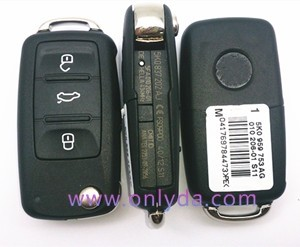 For VW 3 button remote key with 434mhz Model Number is 5KO-959-753-AG /5KO-837-202AJ(no in stock)