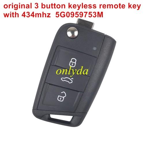 Original 3 button remote key with 434mhz 5GO959753M
