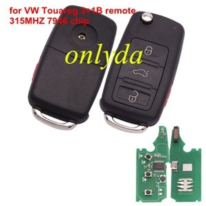VW Touareg 3+1 button remote with 315MHZ with 7947 chip