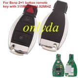 For Benz 2+1 button remote key with 315MHZ/433MHZ