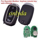 For original hyundai 4button keyless remote key with 434mhz