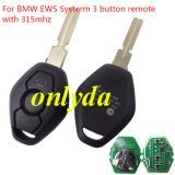 For BMW EWS Systerm 3B remote hu58 blade with 7935 chip 315mhz/434mhz