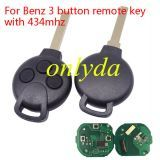 For Benz 3 button remote key with 434mhz