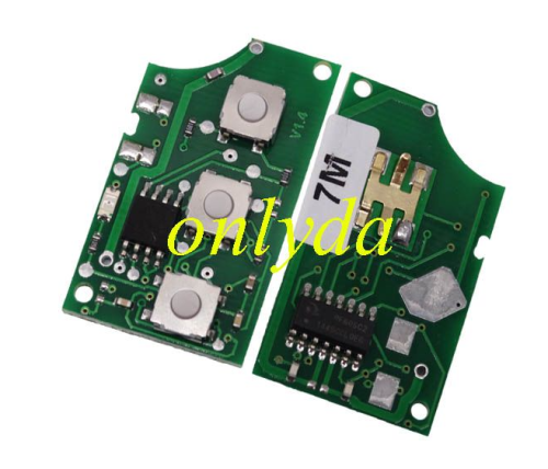 For VW 2 button remote key 433mhz 7M3959753F
