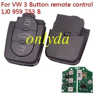 For VW 3 Button remote control 1J0 959 753 B