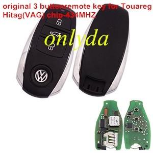 Original for Touareg 3 button remote key with Hitag(VAG) chip 434mhz