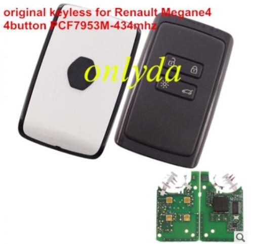 For original keyless Renault Megane4 4B card PCF7953M-434mhz CMIIT ID:2014DJ3371