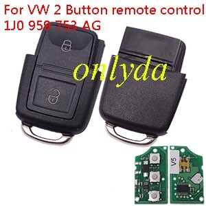 For VW 2 Button remote control 1J0 959 753 AG