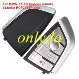 For BMW X5 4 button keyless remote key With 434mhz
