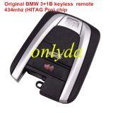 Original For BMW 3+1 button keyless remote 434mhz (HITAG Pro)