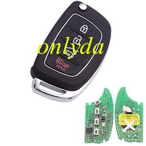 Original Hyundai 3+1 button remote key with 434mhz MP13V-23