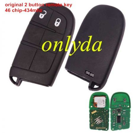 original 2 button remote key with 434MHZ with 46 chip