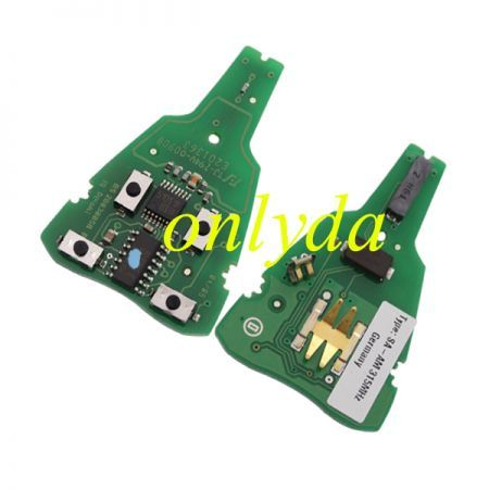 For SAAB 4 button remote key with PCF7946AT chip 315/434 mhz