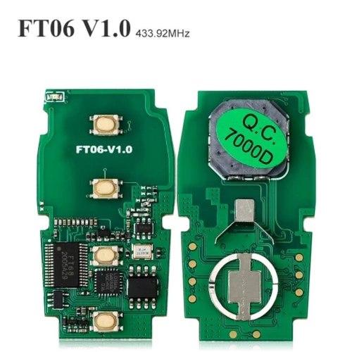 3+1 Button Keyless Go Smart Remote Key 433.92Mhz 8A Chip for Subaru STI WRX Board: 7000 Lonsdor FT06-7000D TOY12 with Small Key